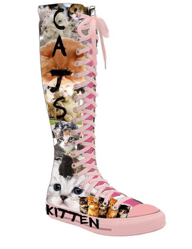 kitty knee high converse by Knee High Converse Sneakers