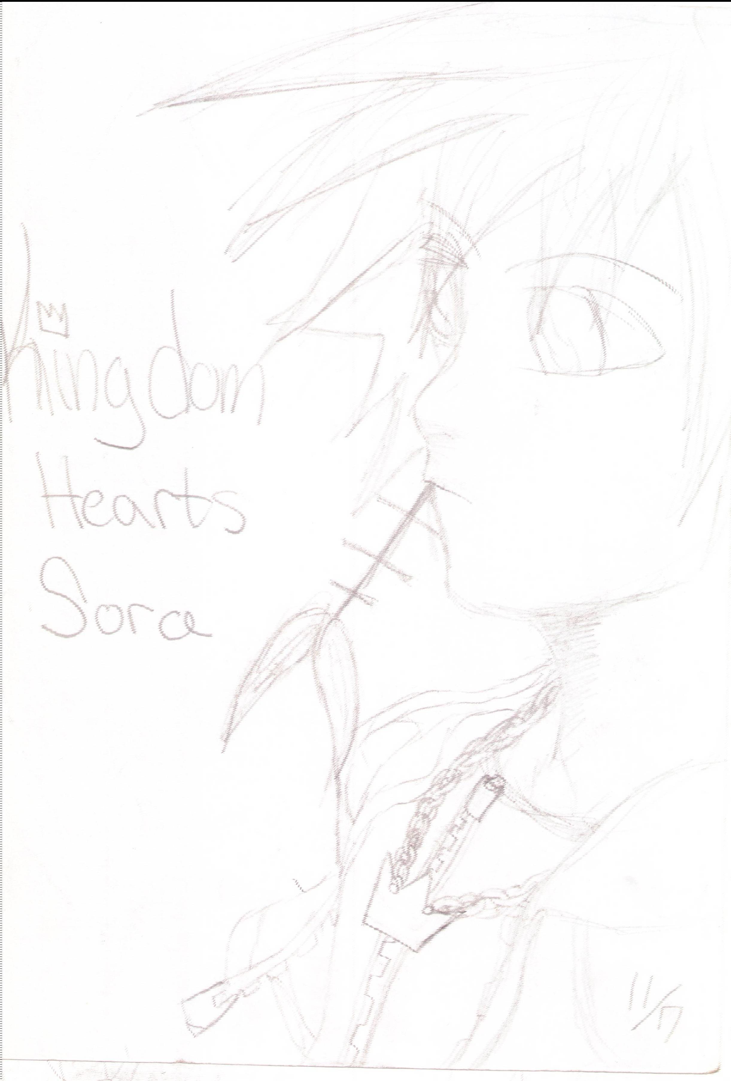 Sora 4rm KindomHearts by UrEmoLover