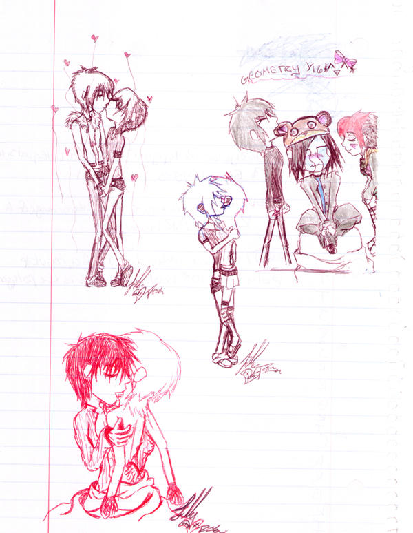 Full Page From Notebook by UrEmoLover