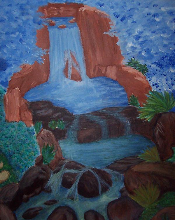 waterfall-unfinished by changanghua