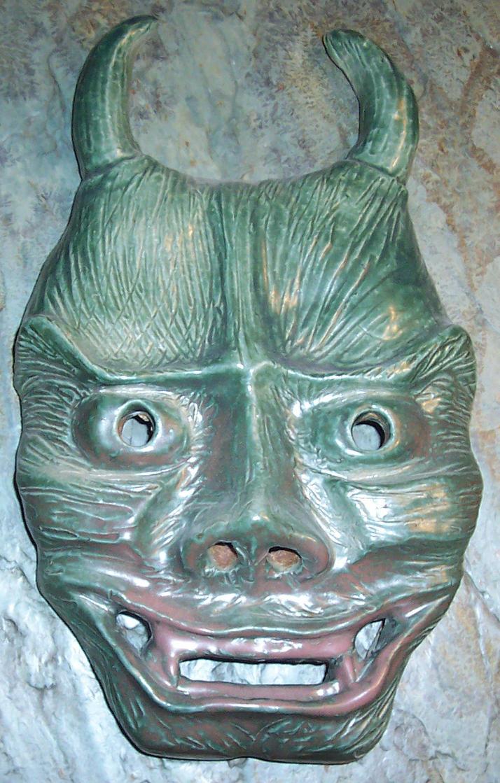 textured oni mask by changanghua