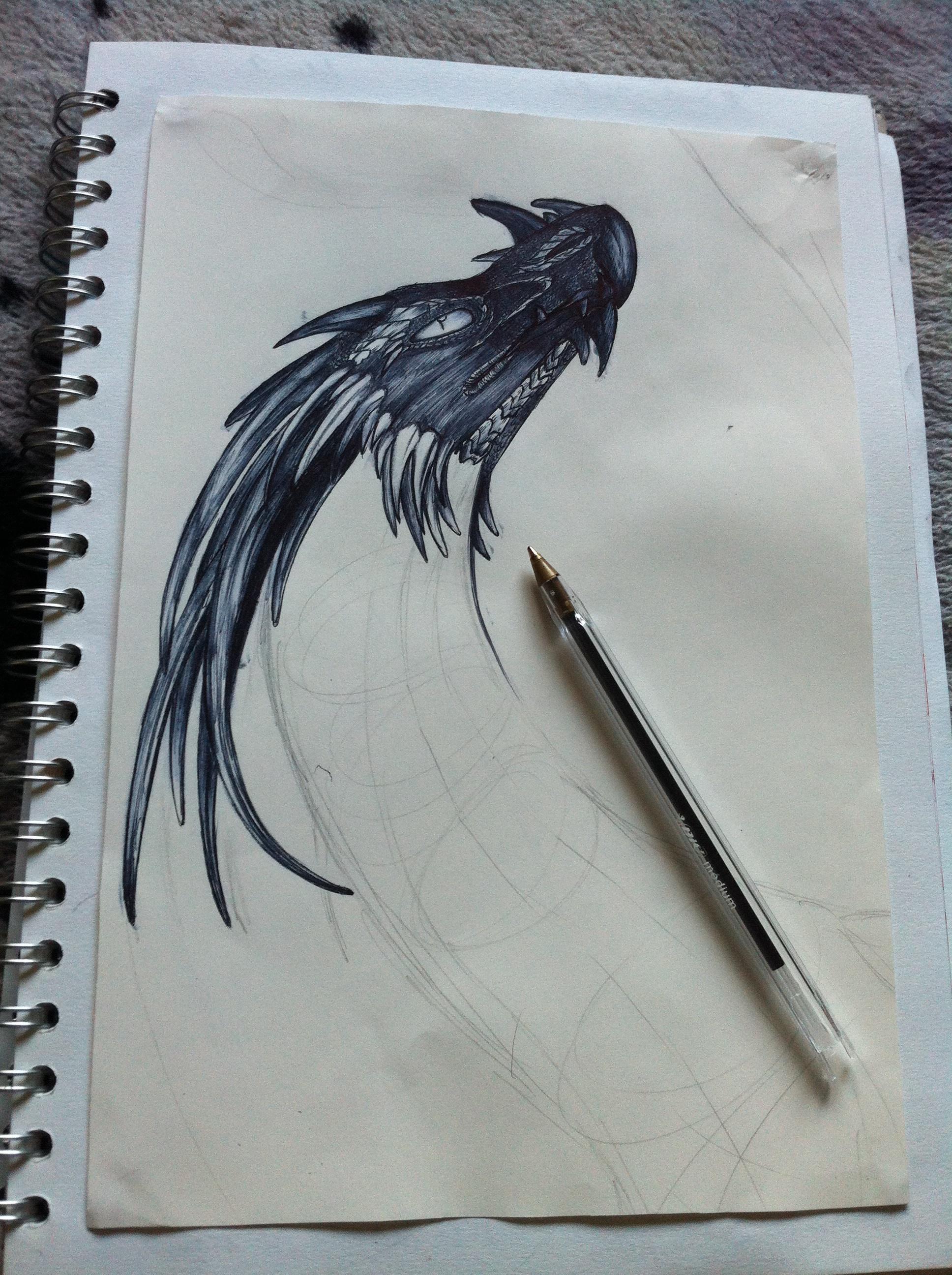 Kirandryl biro drawing W.I.P.