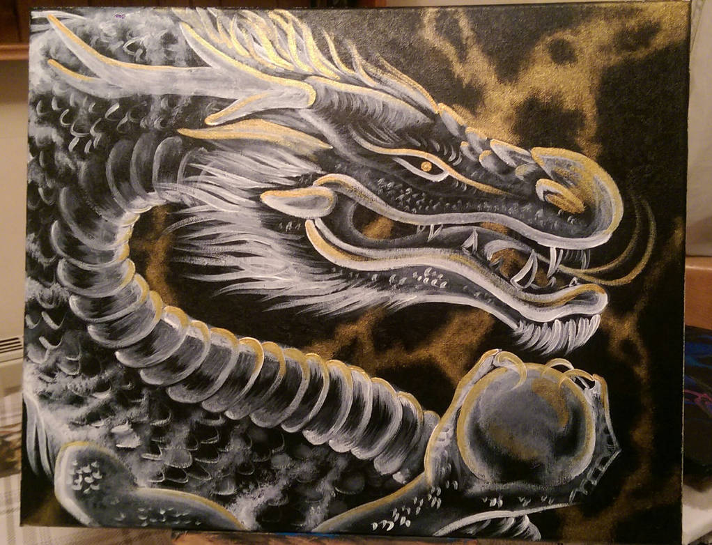 Blackcanvas Dragon by NikkiSixxIsALegend