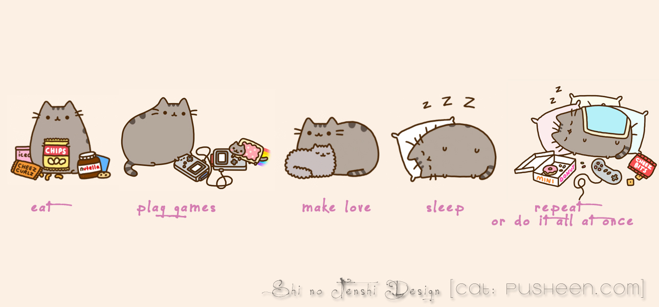 Pusheen (Facebook Chronik Photo) by uncontr0lable