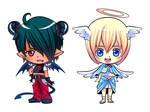 Commission : Chibi demon-angel