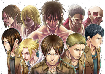 SnK - The Titans (SPOILER ALERT) by Bayou-Kun
