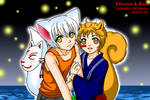 Kitsune+Risu by Bayou-Kun