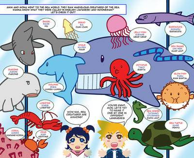 K-Learn : Sea Creatures by Bayou-Kun
