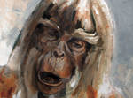 Planet of The Apes oil sketch