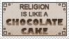 Religion is like a chocolate cake by FireFlyExposed
