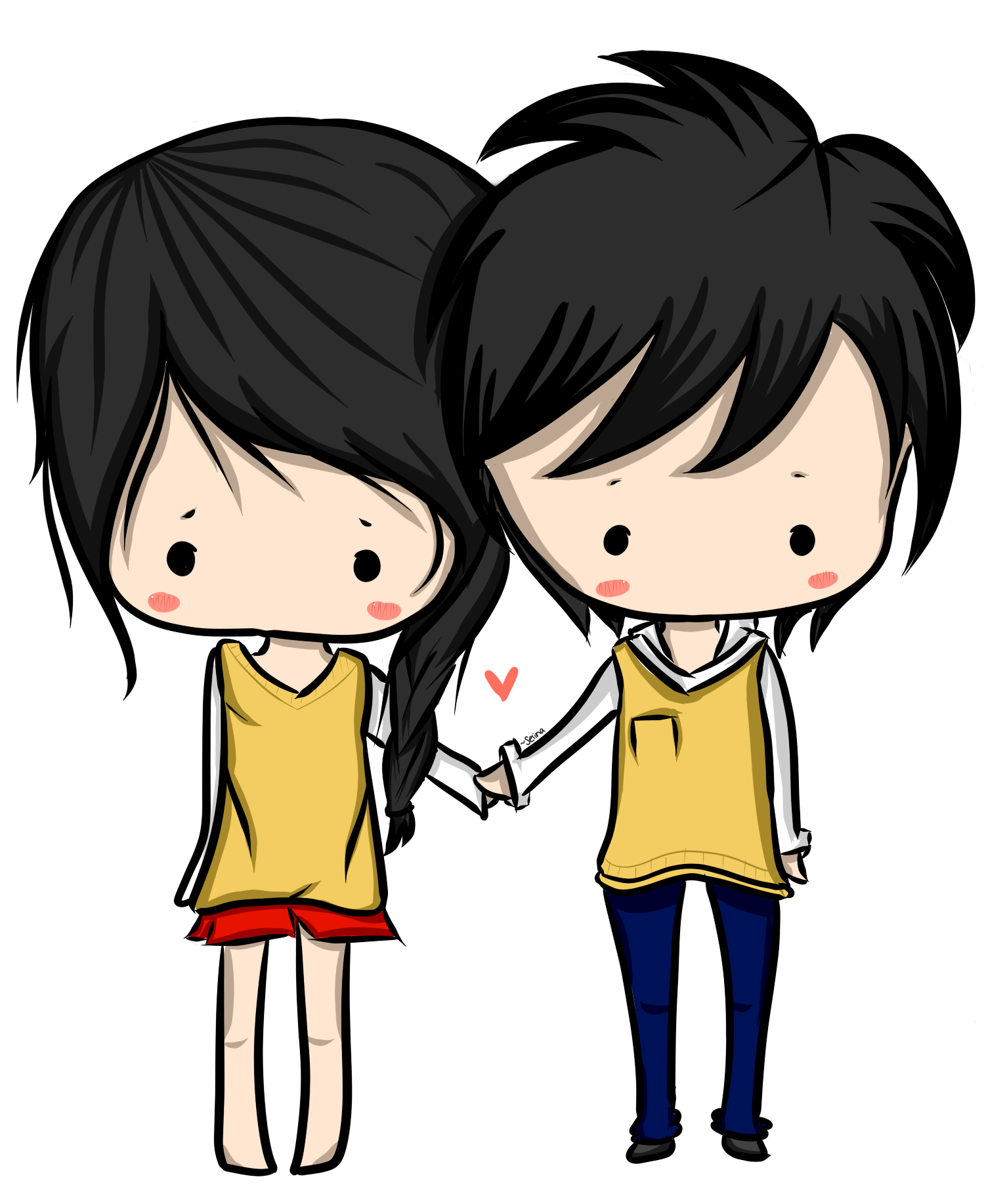 Chibi Couple (: by surlinaa on DeviantArt
