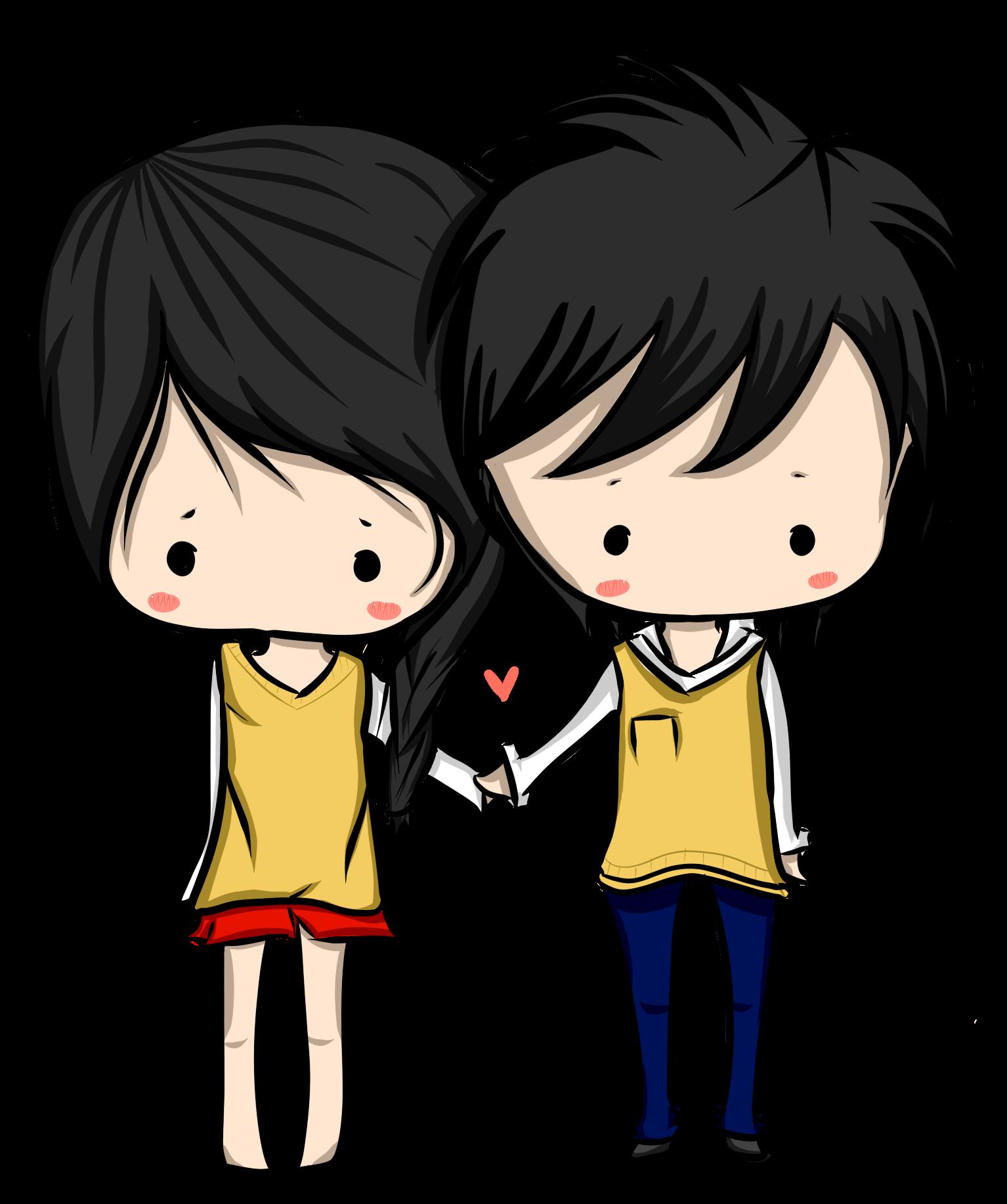 Chibi Couple (: by surlinaa on DeviantArt