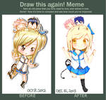 BEFORE AND AFTER MEME l FairyTail x Lucy