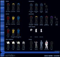 25th Century Starfleet Uniforms by sumghai
