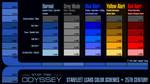 25th Century Starfleet LCARS Color Schemes