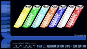 25th Century Starfleet Isolinear Chips