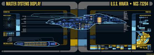 USS Hinata (NCC-73204) - Master Systems Display by sumghai
