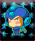 Megaman Monkey Fan by butulino
