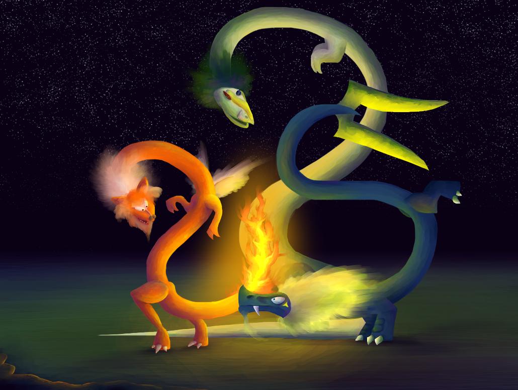 Browser Trio by DragonarySilver