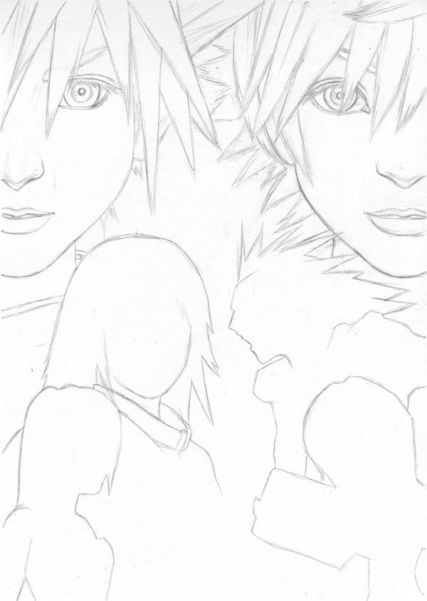 Kingdom Hearts Lineart : Kingdom hearts wip lineart by cataclysm on deviantart