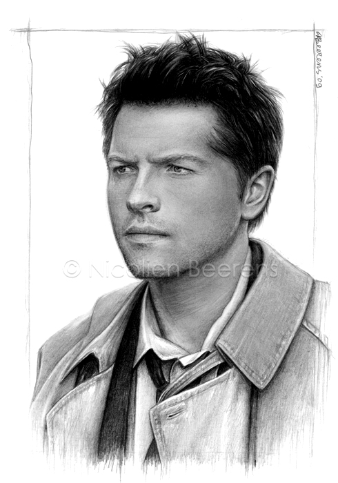 Misha Collins as Castiel by Cataclysm-X