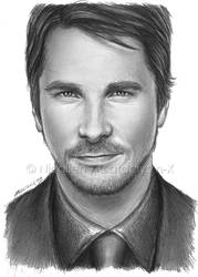Christian Bale semi-sketch by Cataclysm-X