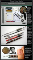 Miniature Drawing - Supplies