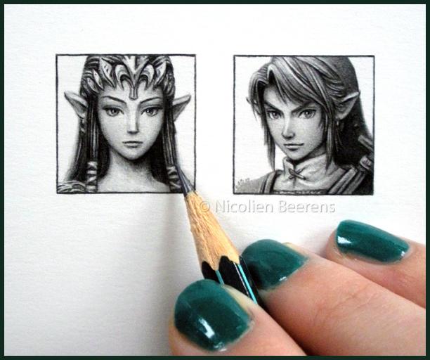 Zelda and Link - miniatures