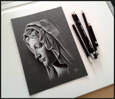 Lady Madonna (Pencil drawing) by Cataclysm-X