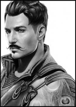 Dorian Pavus - pencil portrait