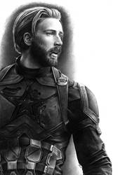 CAPTAIN AMERICA (PENCIL DRAWING) by Cataclysm-X
