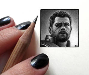 Thor Odinson (Miniature Drawing) by Cataclysm-X