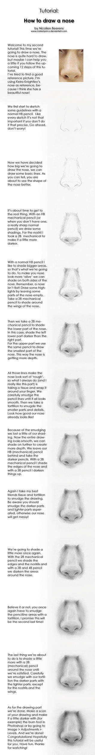 Tutorial: how to draw noses by Cataclysm-X