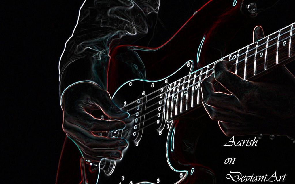 Neon Guitar Wallpaper By Aarish On DeviantArt