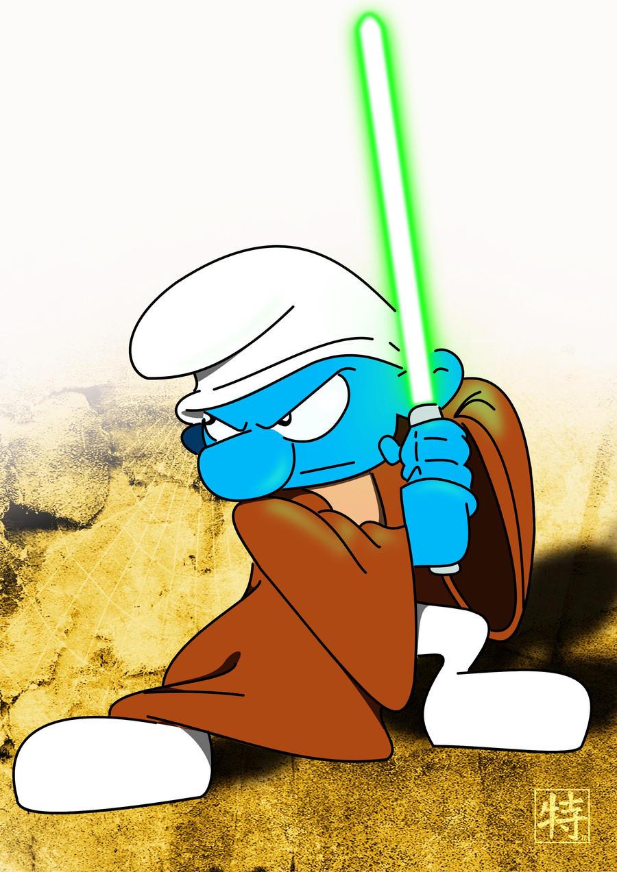 Jedi Smurf by TheWarrigul