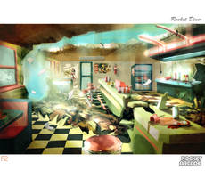 Destroyed Rocket Diner by hision