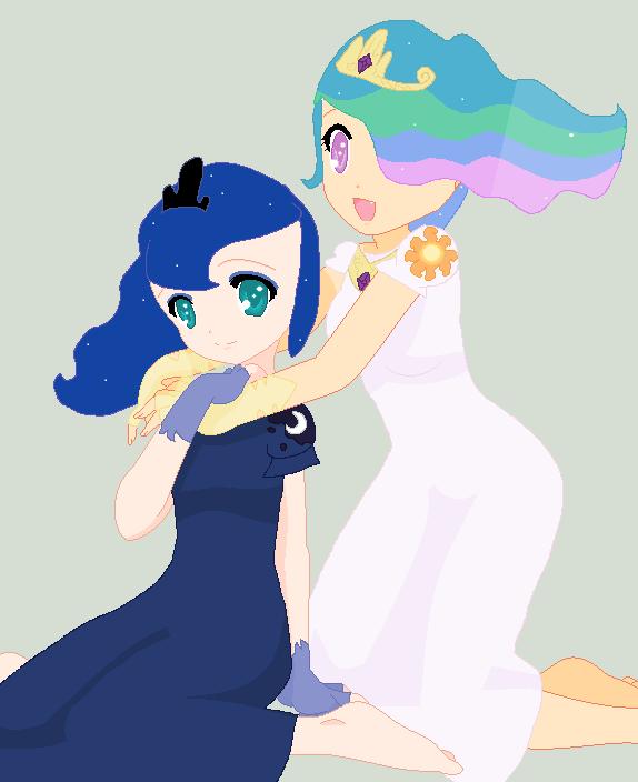 Human Celestia And Luna by Nerdygirl311 on DeviantArt