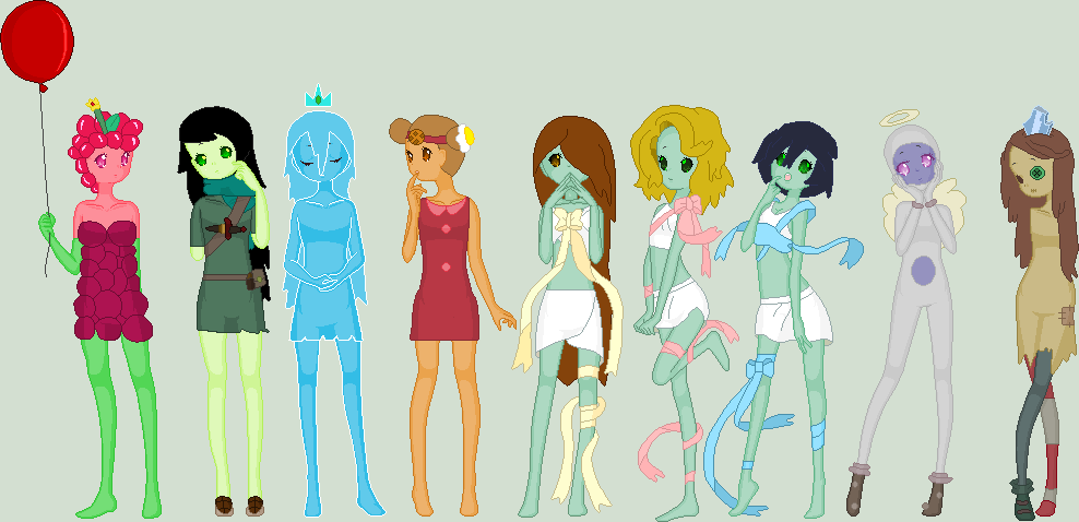 nacid girls from adventure time