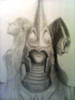 Zelda, Zant, and Midna by LolaReed1