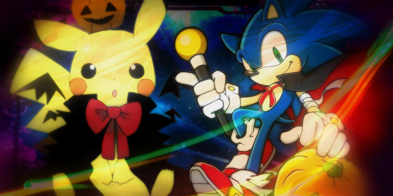 Cool Wallpaper Halloween Pokemon - halloween_sonic_and_pikachu_wallpaper_by_pokemonttr-d9f0ilg  Graphic_711519.jpg