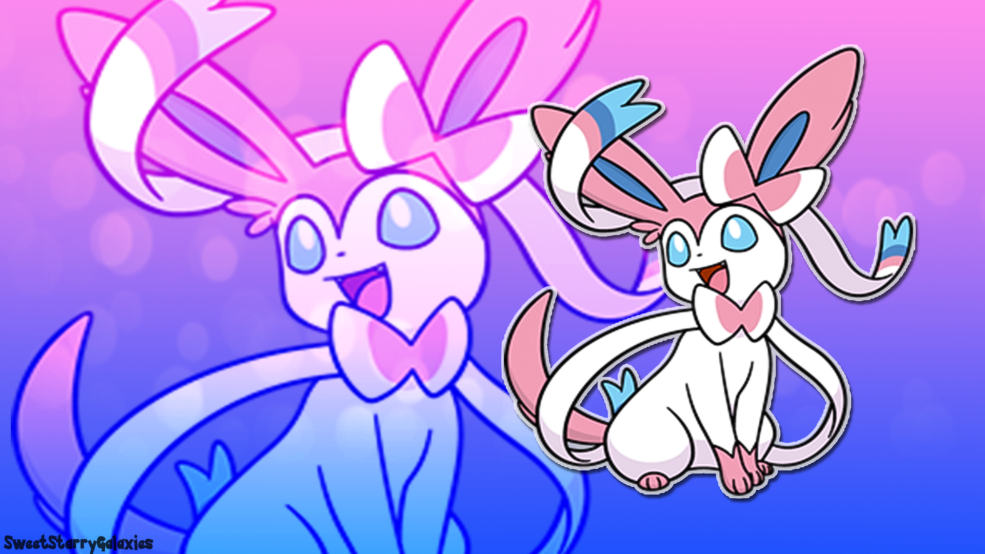 Sylveon Wallpaper (Pokemon) by SweetStarryGalaxies on ...