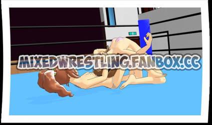Double Knee Backbreaker Iori VS Yayoi