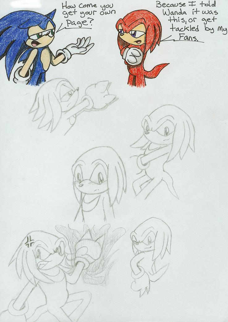 how to draw knuckles the hedgehog