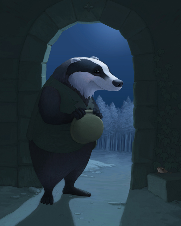Mr Badger by Cloverfish