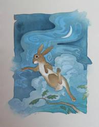 Rabbit Moon by Cloverfish