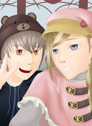 Kiragi and Forrest selfie by Linked-Fates