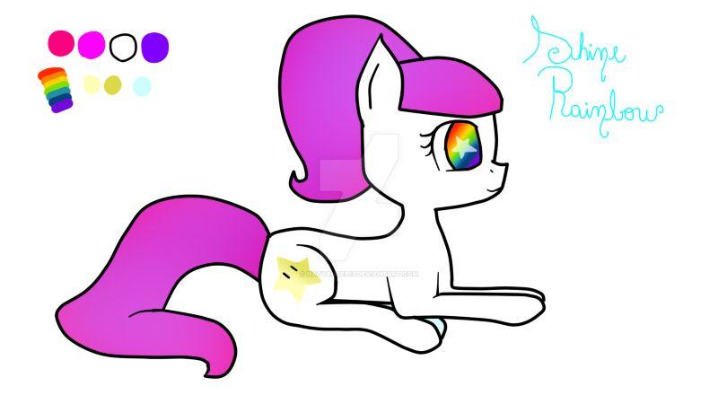 Shine Rainbow - MLP OC by natyangel13
