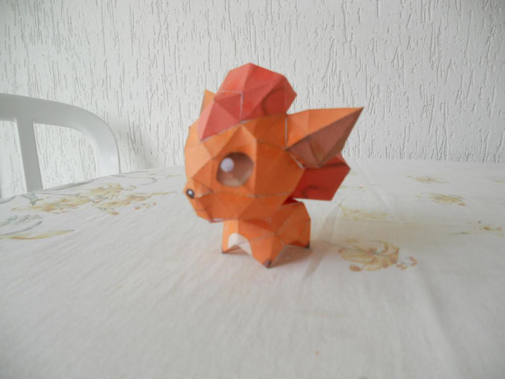 Pokemon Papercraft - Chibi Vulpix by Crimson-Flazey