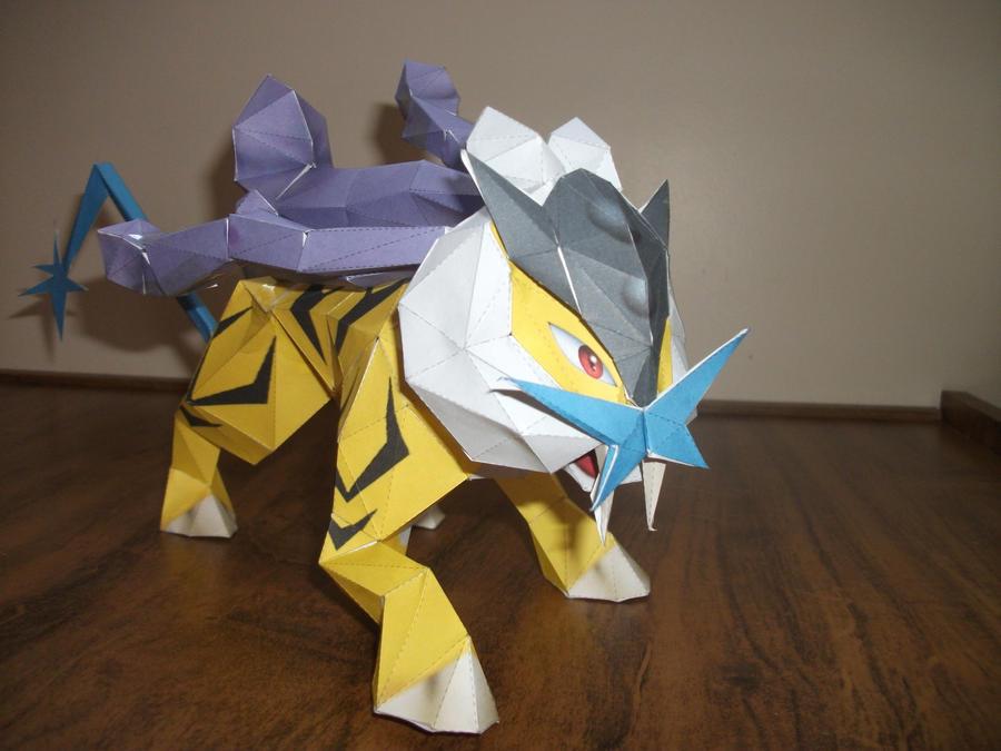 Pokemon Papercraft - Raikou by Crimson-Flazey