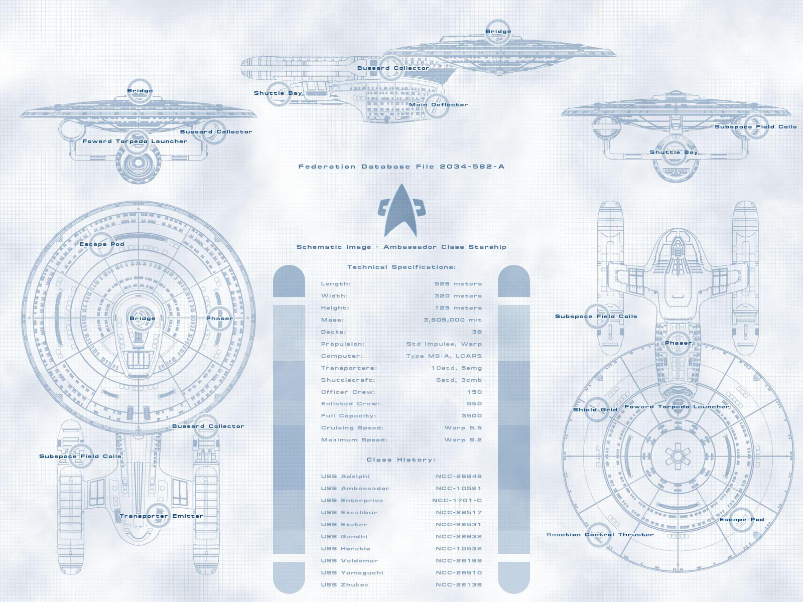 Ambassador Class Schematic by arrghman on DeviantArt